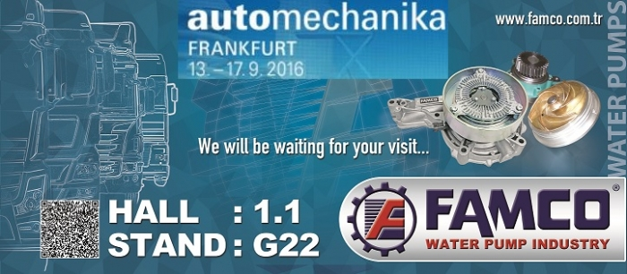 AUTOMECHANIKA FRANKFURT  13-17 SEPTEMBER 2016 FAMCO